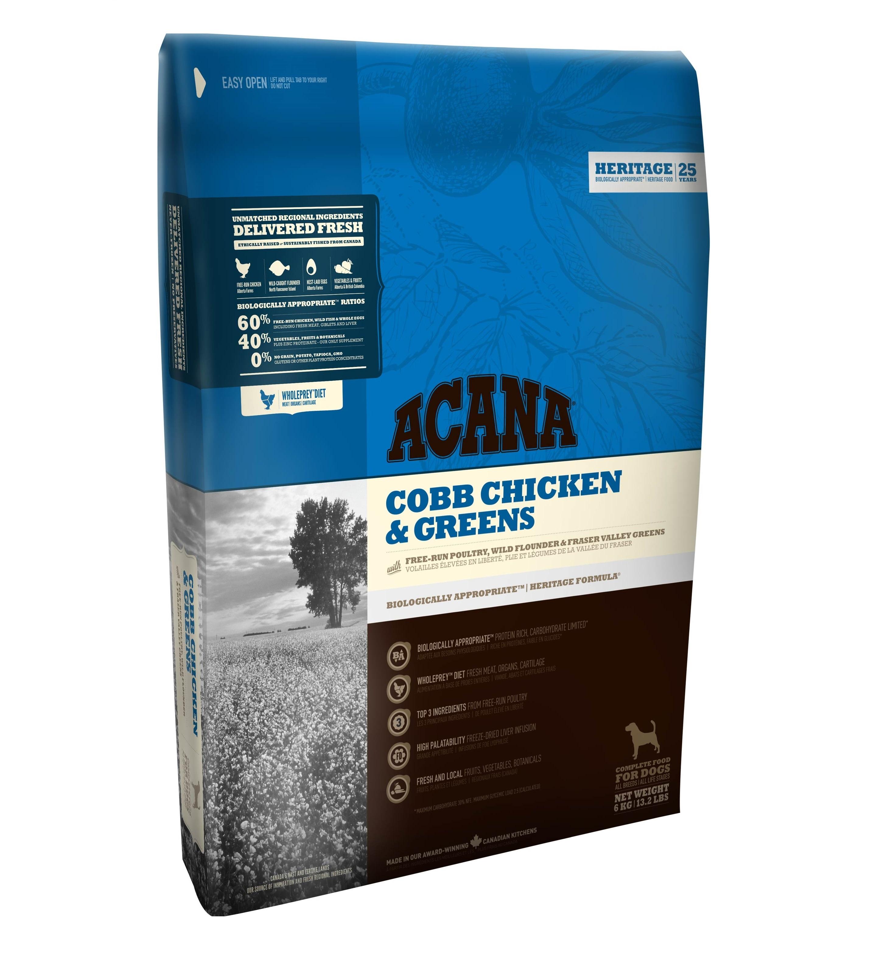 ACANA Dog Cobb Chicken & Greens HERITAGE 17kg