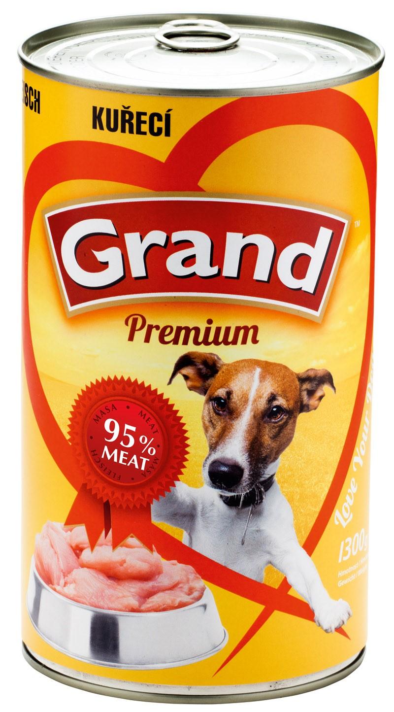 GRAND konzerva pes drůbeží 1150g