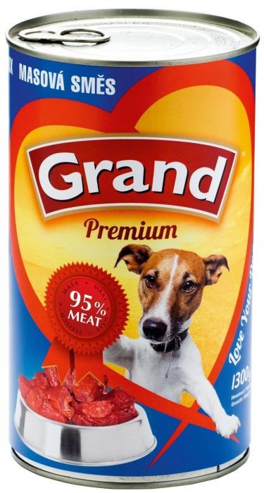 GRAND konzerva pes masová směs 1300g
