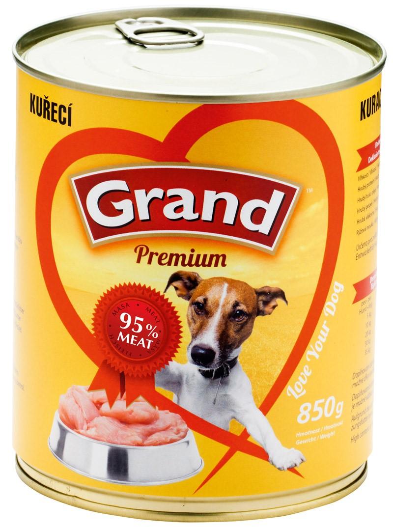 GRAND konzerva pes drůbeží 850g