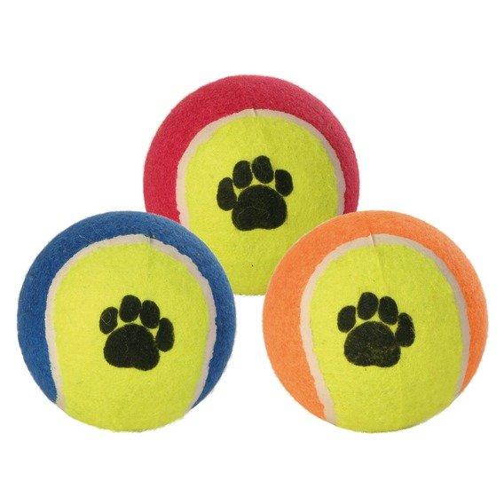 Tenisový míč barevný s tlapkou 10cm Trixie