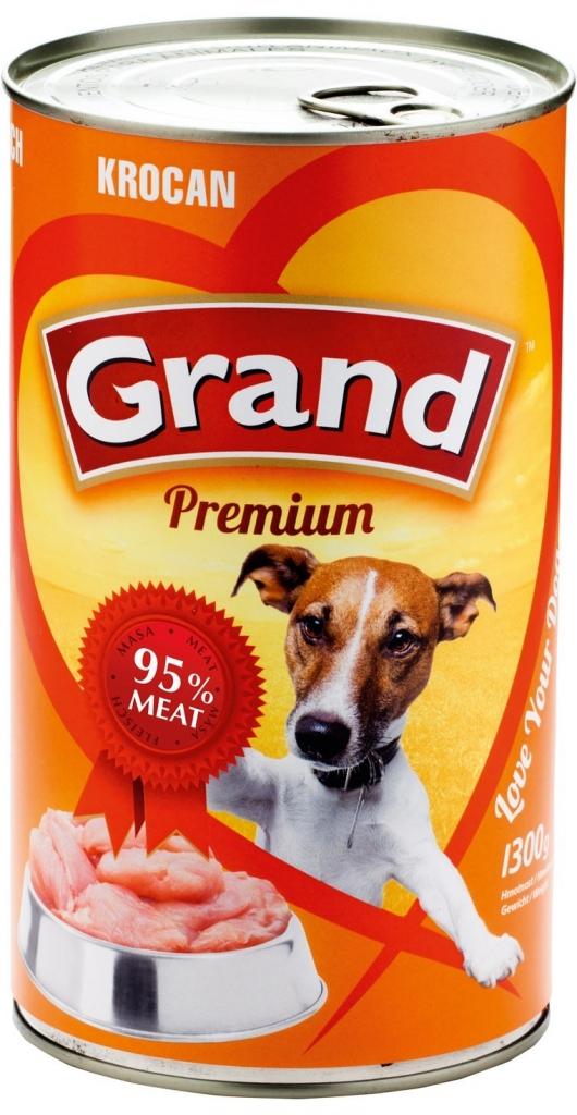 GRAND konzerva pes krocaní 1300g
